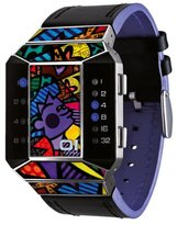 01 The One 01TheOne Unisex SC125B1 Split Screen Romero Britto Art Purple Watch