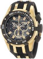 Invicta Men's 0980 Bolt Reserve Chronograph Gunmetal Dial Polyurethane ...