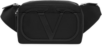 Valentino V Logo Leather Waist Bag