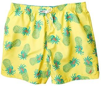 Nautica Big Tall Tropical Pattern Swimwear (Yellow) Men's Swimwear