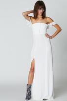 Flynn Skye Bardot Maxi White Dress