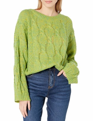 J.o.a. Women's Oversized Pullover Cableknit Sweater