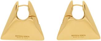 Bottega Veneta Gold Triangle Earrings