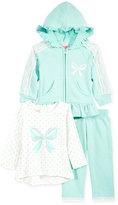 Nannette Baby Girls' 3-Pc. Lace Hoodie, T-Shirt & Pants Set