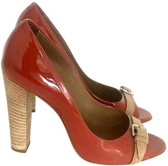Hermes Orange Patent leather Heels