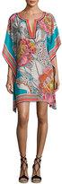 Trina Turk Theodora Floral Silk Satin Mini Dress, Multicolor
