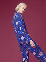 Diane von Furstenberg Long-Sleeve Pajama Top