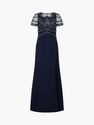 Adrianna Papell Beaded Side Split Maxi Dress, Midnight