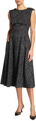Escada Melange Fit-&-Flare Midi Dress