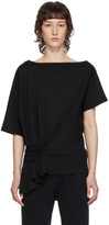 Ann Demeulemeester Black Tie-Up T-Shirt