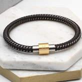 Hurleyburley man Men's Personalised Initial Clasp Bracelet