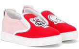 Fendi mesh slip-on sneakers