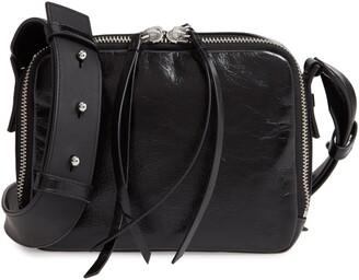 AllSaints Vincent Shiny Leather Crossbody Bag