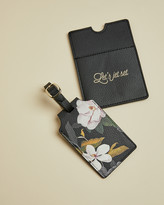 Ted Baker PIPEAR Opal passport holder and luggage tag set