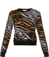 Equipment Shirley tiger-print long-sleeved sweater