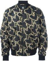 Paul Smith love heart print bomber jacket