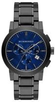 Burberry Round Stainless Steel Chronograph Watch
