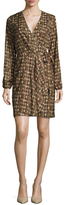 Ava & Aiden Printed Faux Wrap Dress