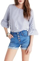 Madewell Women's Stripe Bell Sleeve Top