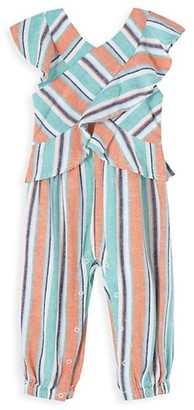 Habitual Baby Girl's Ruffle Multicolor Striped Jumpsuit