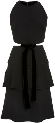 Proenza Schouler Cut-Out Viscose Crepe Dress
