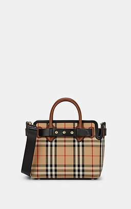 Burberry Women's Belted Leather-Trimmed Cotton Canvas Mini Bag - Tan