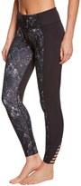 Betsey Johnson Moroccan Tile Contrast Cutout Yoga Leggings 8148955