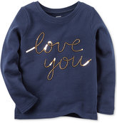 Carter's Sequin Love You Top, Little Girls (2-6X)