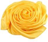 "Beauty II Silk Shawl Scarf for Wedding Bridal Evening Party Long (Rice, 35.4""x70.8"")"