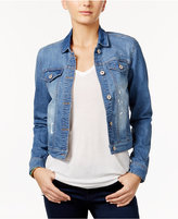 Vanilla Star Juniors' Paint-Splatter Denim Jacket