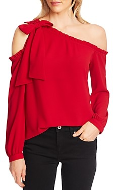 CeCe Ruffled One-Shoulder Blouse