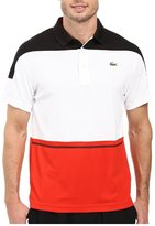 Lacoste Men's T2 Short Sleeve Color Block Ultra Dry Polo Shirt