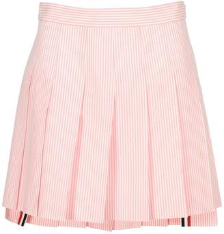 Thom Browne Dropped Back Pleated Mini Skirt
