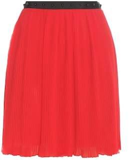 Giamba Embellished pleated miniskirt