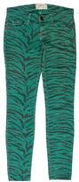 Current/Elliott Baltic Zebra Skinny Pants