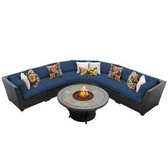 Tegan Sol 72 Outdoor 6 Piece Sectional Seating Group with Cushions Sol 72 Outdoor Cushion Color: Navy