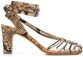 Maryam Nassir Zadeh snakeskin print sandals