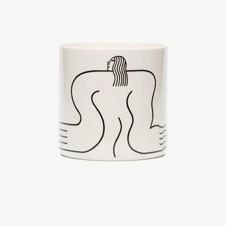 Louise Madzia White Body ceramic plant pot