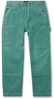 Stussy Wide-Leg Garment-Dyed Bull Denim Jeans