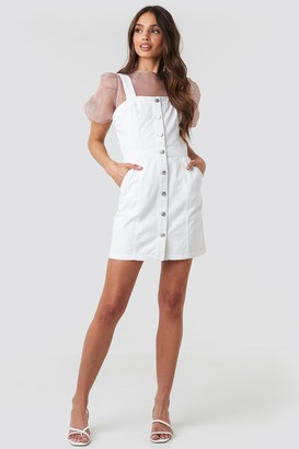 NA-KD Pinafore Mini Denim Dress