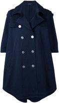 Tagliatore double-breasted cape coat - women - Cotton/Spandex/Elastane/Cupro - 44