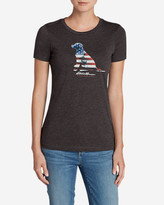 Eddie Bauer Women's Graphic Tri-Blend Crewneck T-Shirt - Lab Flag