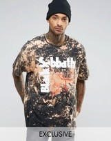 Reclaimed Vintage Oversized Band Tee With Bleaching