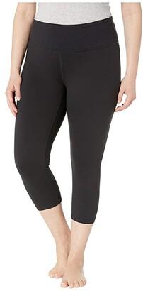 Prana Plus Size Transform Capris (Black) Women's Capri