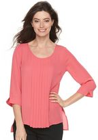 Dana Buchman Women's Pleated Chiffon Top