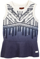 7 For All Mankind Sleeveless Ombre Tee (Big Girls)