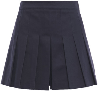 RED Valentino Pleated Cotton-blend Twill Shorts