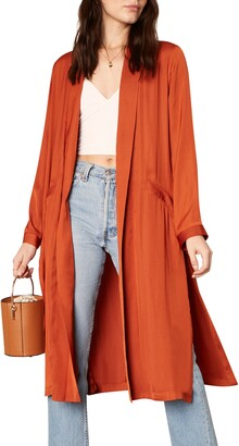 Cupcakes And Cashmere Marina Longline Satin Duster Jacket