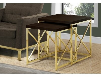 Thumbnail for your product : Mercer41 Quinton 2 Piece Nesting Tables