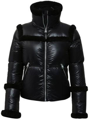 Mackage Miya Lightweight Fur-Trim High Collar Jacket